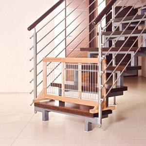 Treppen-Absperrgitter für Hunde